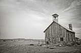 Old wooden church near Moab, Utah - Black and white photography - 187326243