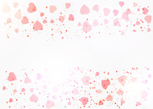Red Confetti Heart Banner. Hap...