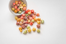 A Pile Of Colorful Popcorn, St...