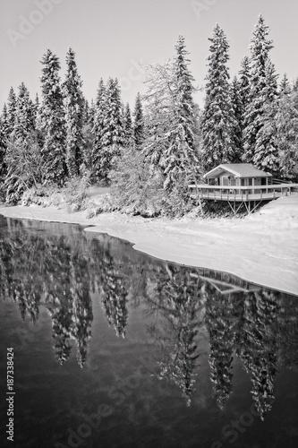 czarno-biala-zima-snieg-sceny-kabiny-i-sniegu
