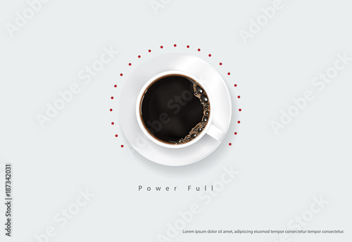 Photo  Coffee Poster Advertisement Flayers Vector Illustration
