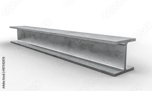 Fotografie, Obraz  steel metal beam 3d