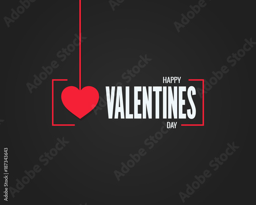 valentines day logo on black background
