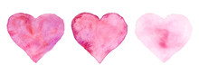 Watercolor Hearts For St. Vale...
