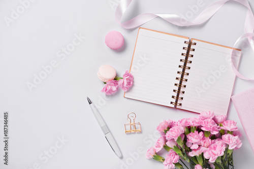 Mockup planner flat lay. Accessory on the table. View top. Events and party desktop.