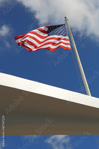 Fotografie, Tablou  The USS Arizona Memorial in Pearl Harbor, Hawaii