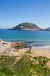 San Sebastian, Spain - APRIL 13, 2017: Concha beach in the city of San Sebastian