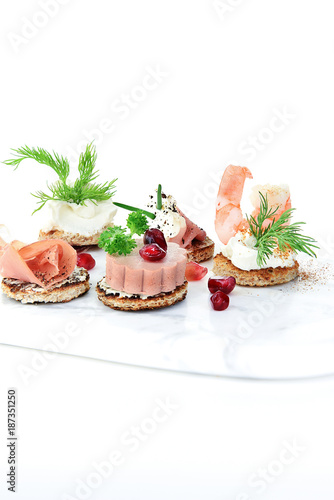 Assorted Luxury Canapes III