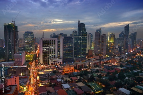 Manila evening skyline, Philippines
