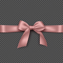 Realistic Pink Bow And Ribbon....