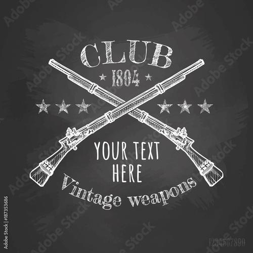 Vintage weapons club Wallpaper Mural