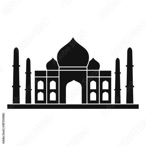 Fotografie, Obraz  Taj mahal icon, simple style
