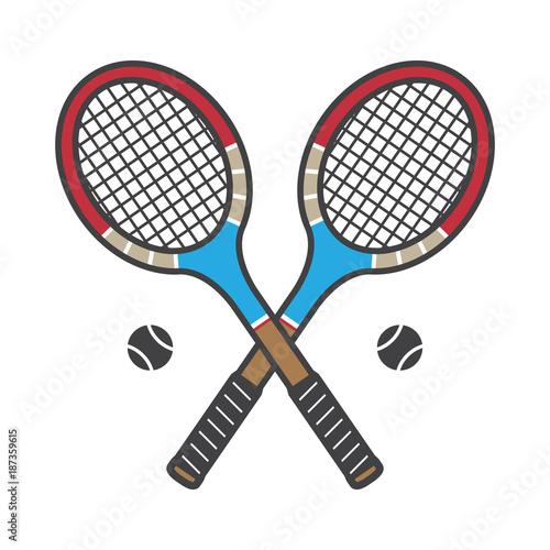 Tennis Racket Vector Icon Badminton Logo Cartoon Illustration Vintage Sports Colorful Buy This Stock Vector And Explore Similar Vectors At Adobe Stock Adobe Stock