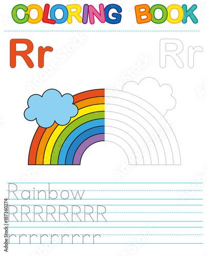 Photo  Coloring book alphabet