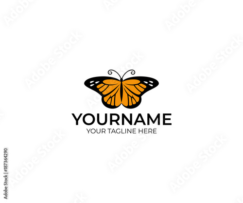 Photo Butterfly danaida monarch logo template