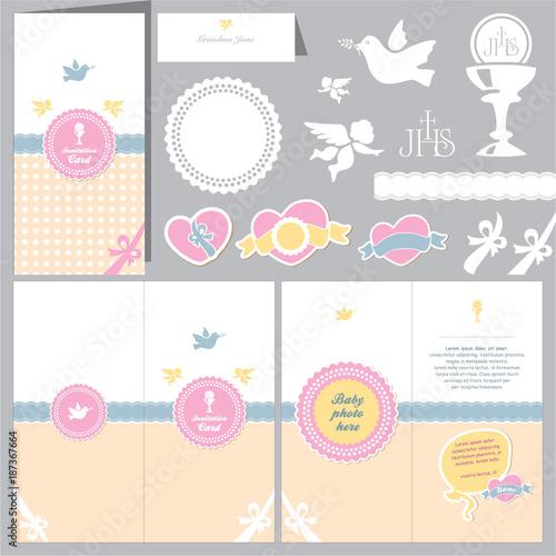 Invitation Baby Card Baptism Invitation Christening Card