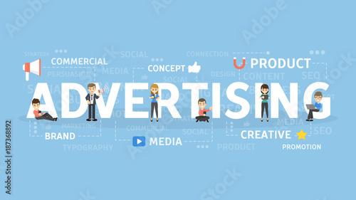 Fotografía  Advertising concept illustration.