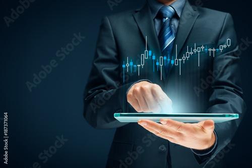Investor and trader Fototapet