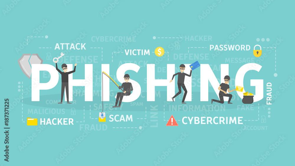 Fototapeta Phishing concept illustration.