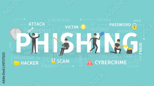 Fotomural Phishing concept illustration.