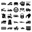 Car icons. set of 25 editable filled car icons