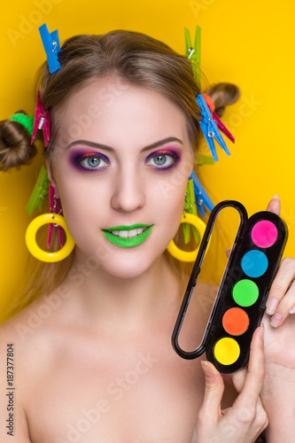 Photo  woman art make up