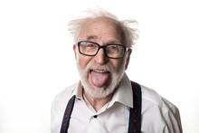Portrait Of Jocular Aging Man ...