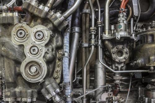 Photo jet engine detail
