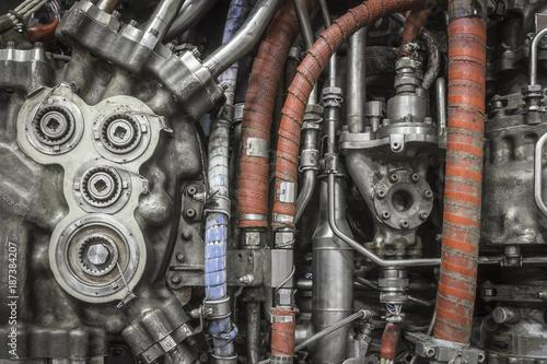 Photo historical jet engine