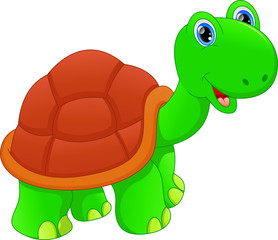 cute green turtle cartoon