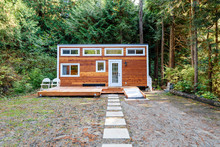 Small Wooden Cabin House. Exte...