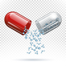 Capsule Pill And Molecules As ...