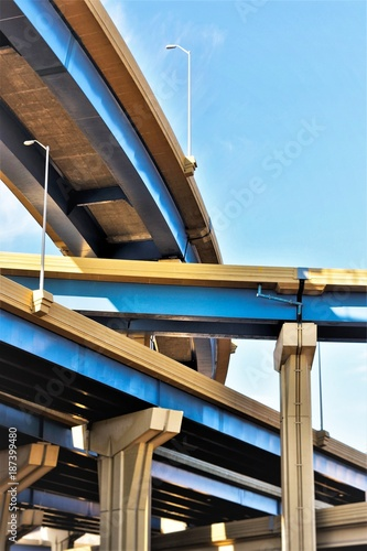 Canvas Print US Infrastructure Bridge Overpass - Transportation and Infrastructure - City Sce
