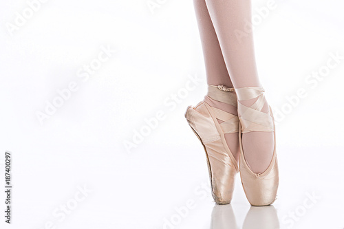 Fotografie, Obraz  Ballet feet on pointe