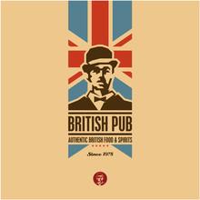 British Food, British Pub Labe...