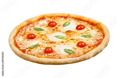 pizza margarita with mozzarella cheese basil and tomato template
