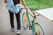 Handsome South-east Asian Guy With A  Cool Colorful  Bike