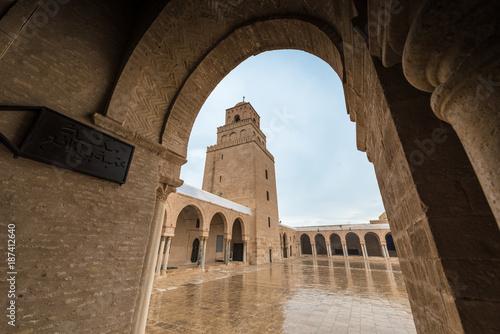 Fototapeta The Great Mosque of Kairouan in Tunisia obraz na płótnie