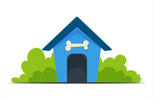 Dog House Training Vector Illu...