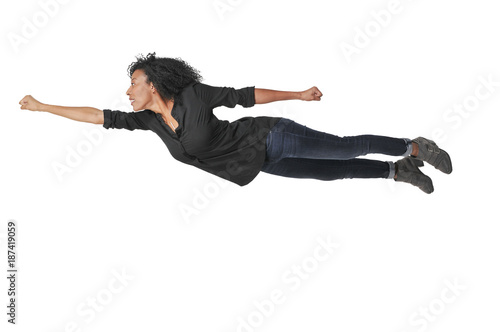 Falling or Flying Woman Wallpaper Mural