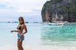 "Girl at Maya Bay (""The Beach"") in Phi Phi Islands, Thailand"