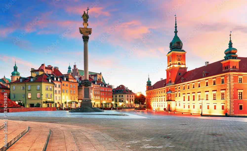 Fototapety, obrazy: Zamek Królewski i stare miasto o zachodzie słońca