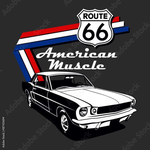 american muscle car vector graphic design - buy this stock vector