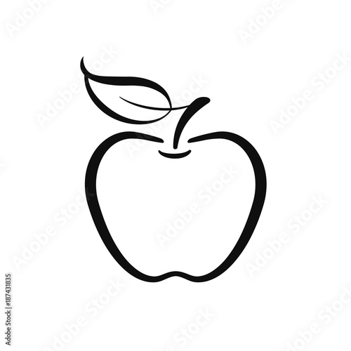 Fototapeta  Apple icon vector