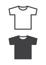 T-shirt Icon, Line And Solid V...