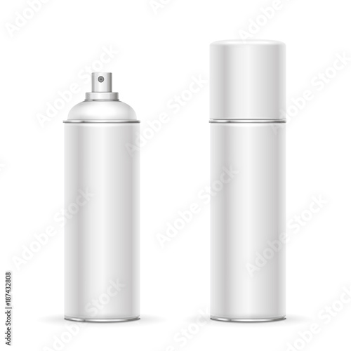 Blank aluminum spray can Wallpaper Mural