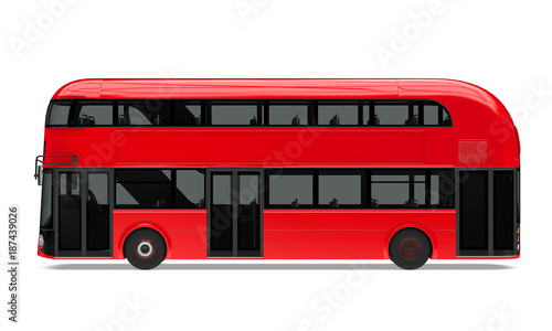 фотография New London Double Decker Bus Isolated