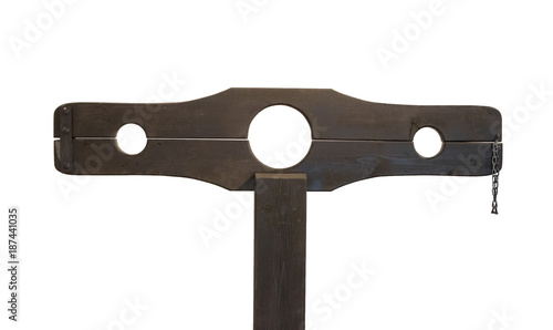 Photo Medieval pillory isolated