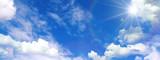 Fototapeta Na sufit - 青空と雲と太陽