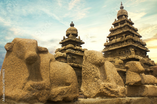 MAHABALIPURAM SHORE TEMPLE Canvas-taulu